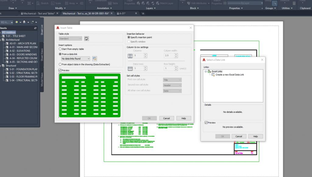 Design Consulting Autodesk AutoCAD Link Excel 1