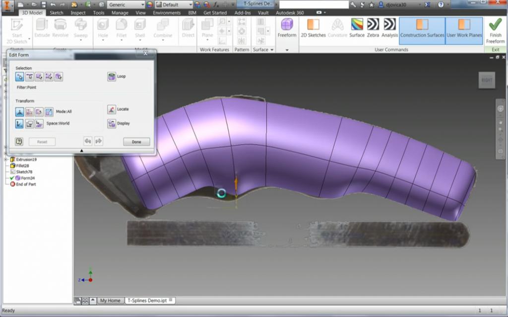 Design Consulting Inventor Professional Freeform Scuplting