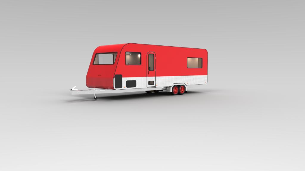 Red Caravan Exterior 03