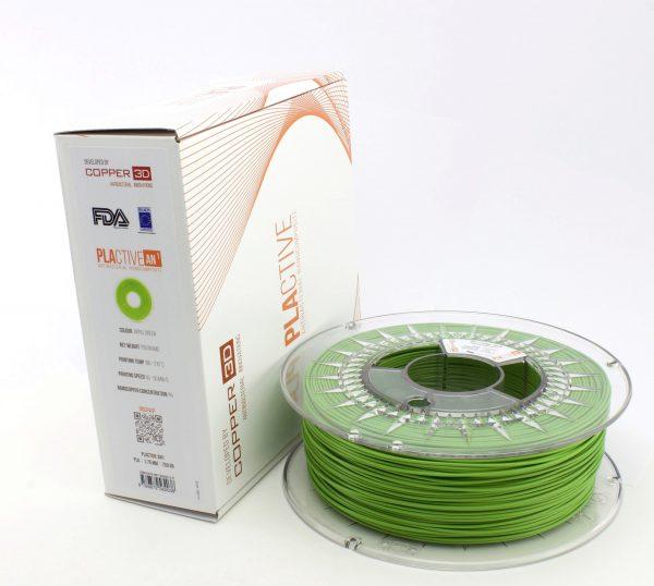 Copper3D PLActive Antibacterial Filament 1.75mm Green