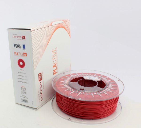 Copper3D PLActive Antibacterial Filament 1.75mm Red