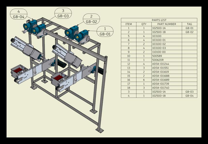 Autodesk Inventor 2022 Assemblies Instance properties Drawing