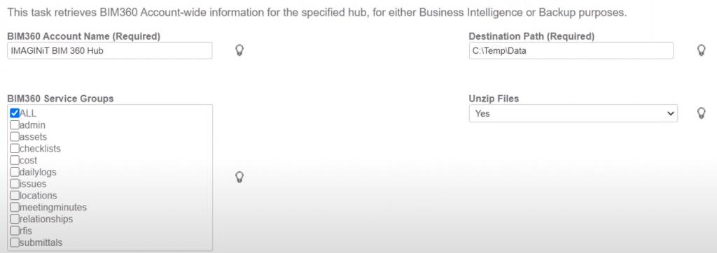 IMAGINiT Clarity for BIM 360 and Power BI business intelligence BIM 360 account back up