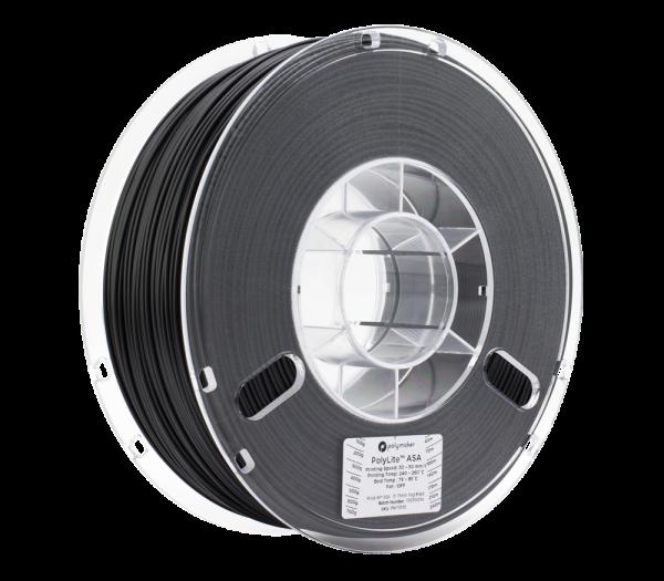PolyLiteASA 1kg Black Spool 175mm Main