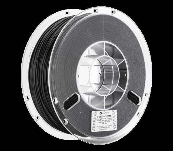 PolyLitePETG 1kg Black Spool 175mm Main