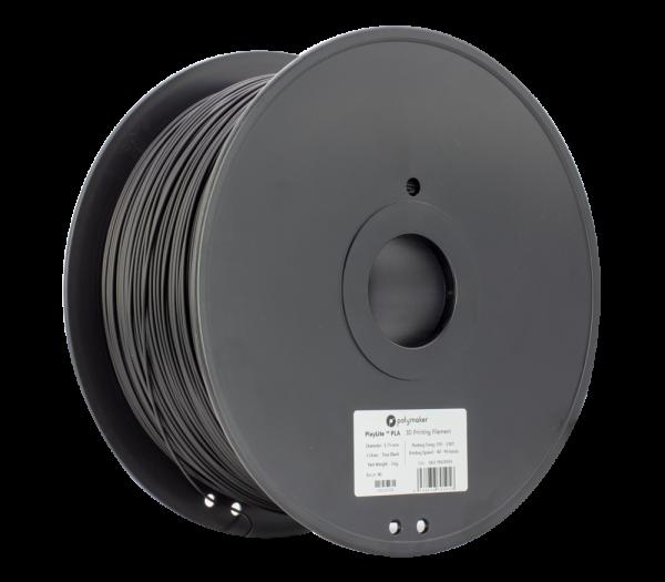 PolyLitePLA 3kg Black Spool 175mm Main